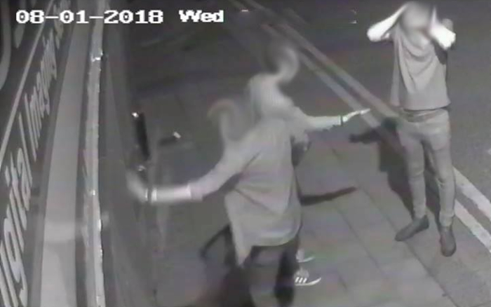 vandals attacked Johnsons Printers - CCTV