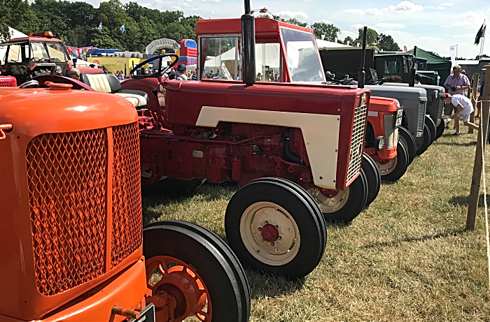 vintage tractors and farm vehicles at Nantwich Show
