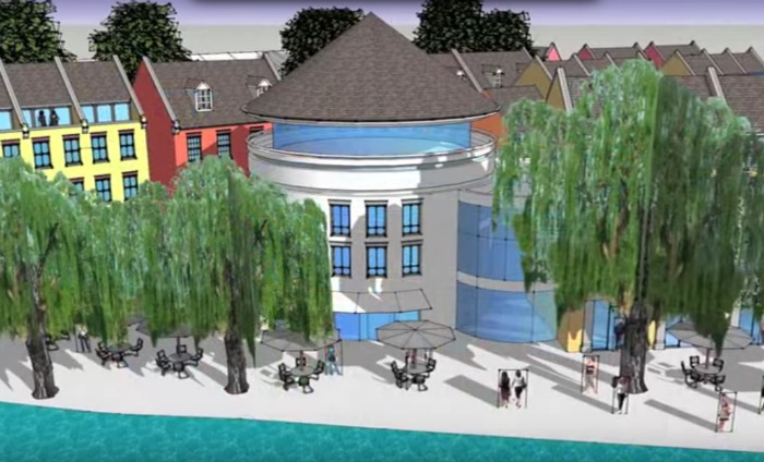 vision for nantwich former gasworks plan and riverfront hotel