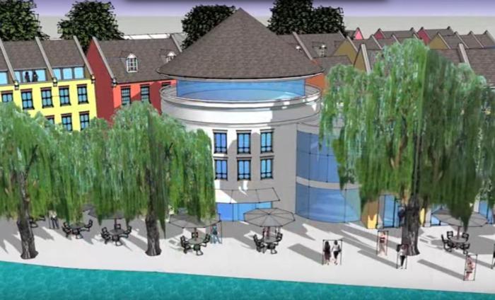vision for nantwich former gasworks plan and riverfront hotel