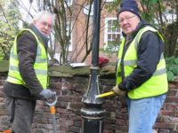Volunteers help spruce up historic Monks Lane in Nantwich
