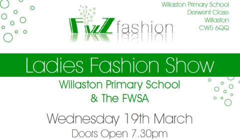 Willaston Primary School to stage fund-raising Fizz Fashion Show