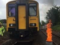 Train passengers evacuated after blaze on carriage in Willaston