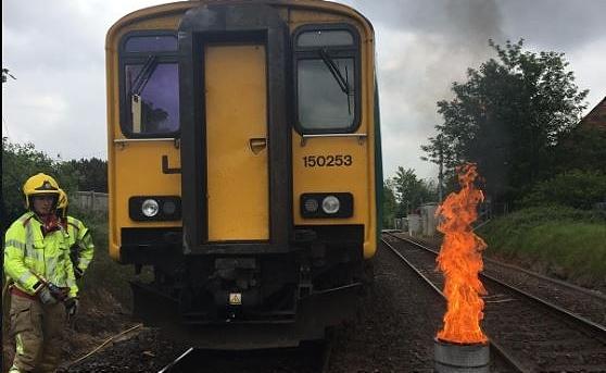 willaston train fire