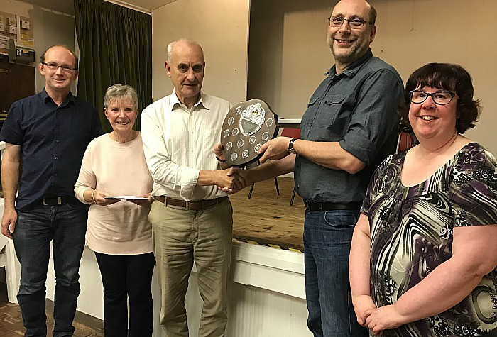 winning quiz team for second consecutive year were 4inacorner - receiving Fred Lorimer trophy