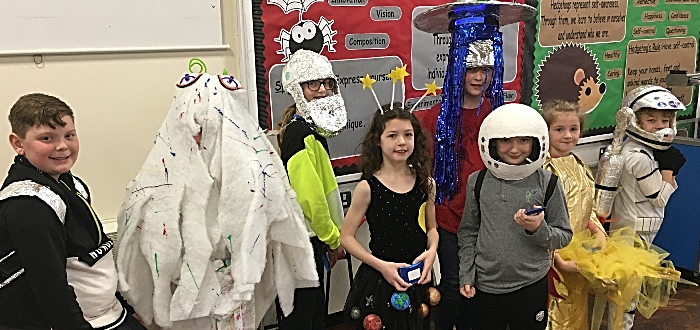 wistaston church lane pupils and space theme