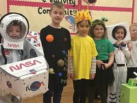 Wistaston Church Lane pupils launch mascot into space!