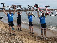 Wrenbury dads raise thousands with Coast to Coast bike ride
