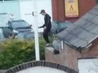 Yob caught on camera after Nantwich church vandalised