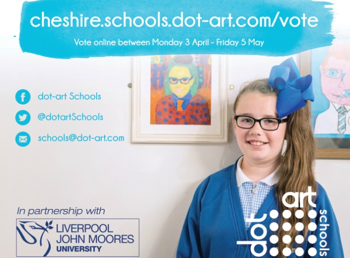 young artists voting poster cheshire