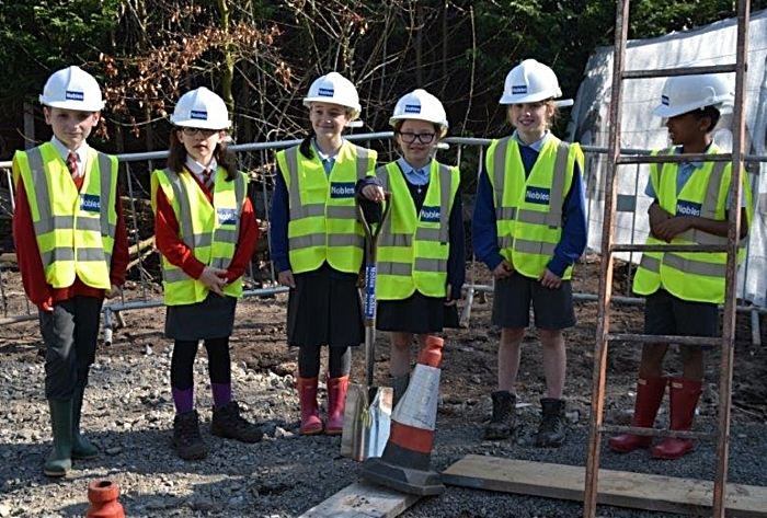 young builders on tesni site!